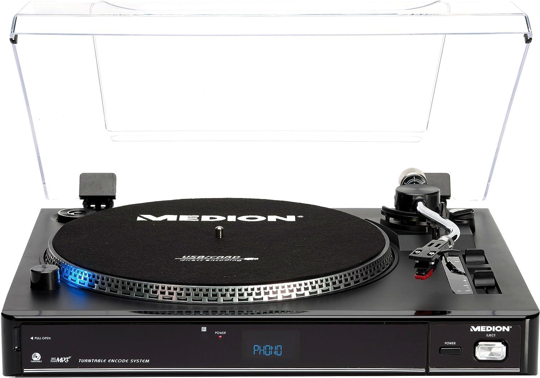 Medion LIFE E69080 USB - Tocadiscos (reproductor de MP3, lector de ...