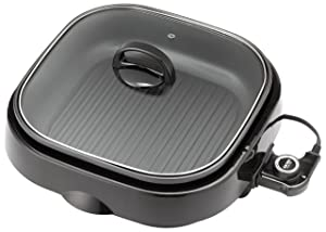 Aroma Housewares ASP-218B 3-in-1 Grillet Indoor Grill 4-Quart Black