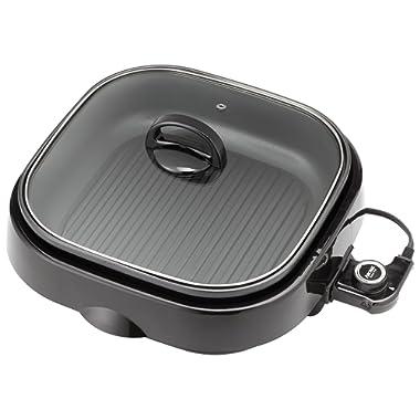 Aroma Housewares ASP-218B 3-in-1 Grillet Indoor Grill, 4-Quart, Black
