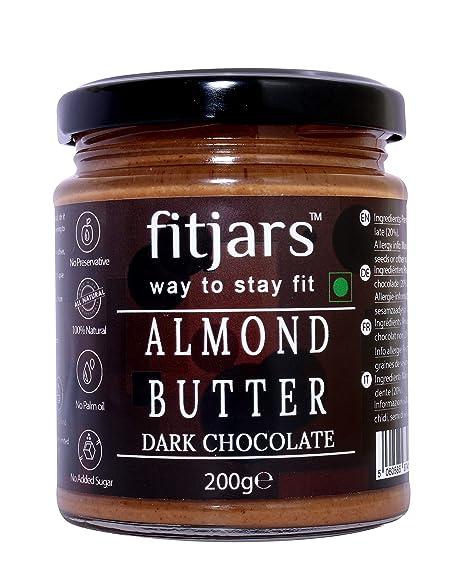 Mantequilla de almendras Fitjars con chocolate oscuro -200g℮