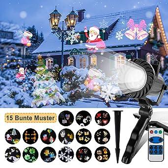 Lámpara de Proyector LED con Luces Navideñas y 15 Patrones ...