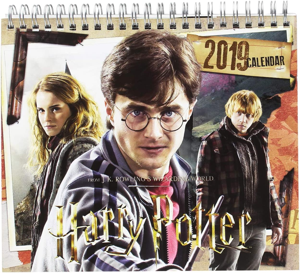 Grupo Erik - Calendario Da Tavolo 2019 Harry Potter 17 X 20 Cm