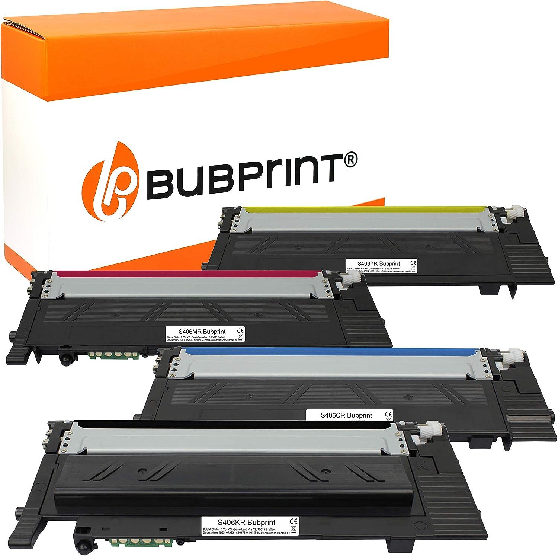 4 Bubprint Toner Kompatibel Für Samsung Clt P406c Für Clp 360 Clp 365 Clp 365w Clx 3300 Clx 3305 Clx 3305fn Clx 3305fw Clx 3305w Xpress C410w C460 C460fw C460w Set Bürobedarf Schreibwaren