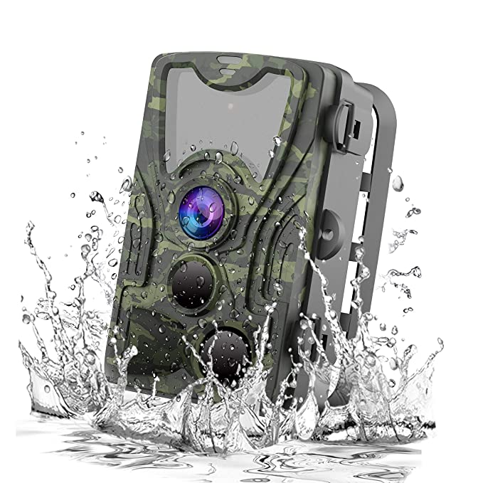 Amazon.com: FHDCAM Trail Camera, Scouting Hunting Cam with Motion Activated, 1080P HD, Night Vision, 120° Wide Angle Lens, IP65 Waterproof Game Camera for ...