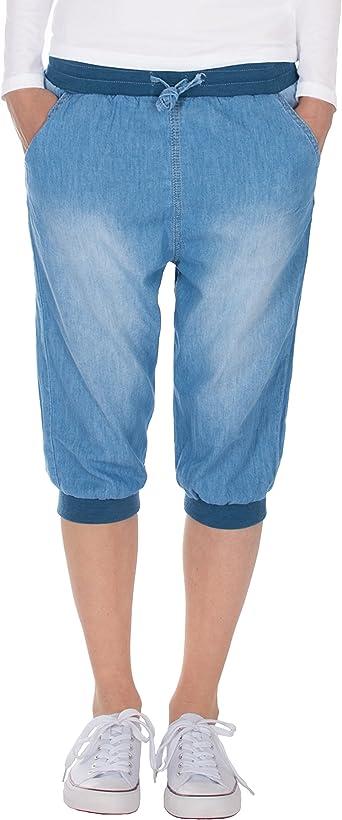 Fraternel Pantacourt Femme Bermuda Jeans Short