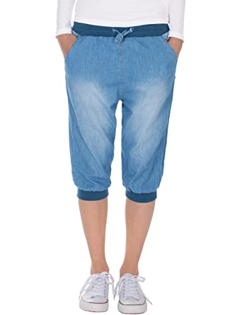 c6fc6a50 Fraternel Women's Knee-Length Jeans Trousers Shorts Bermuda