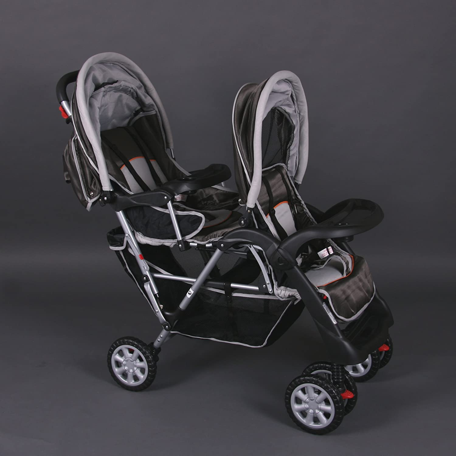 Exclusive Tandem - Twin Pram brown - BambinoWorld Bambino World