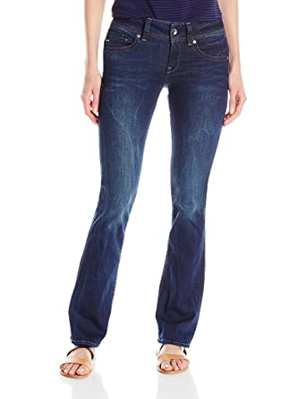 Amazon.com: G-Star Raw Women's Midge Saddle Mid Rise Bootleg Fit Jean in  Neutro Stretch Denim Dark Aged: Clothing