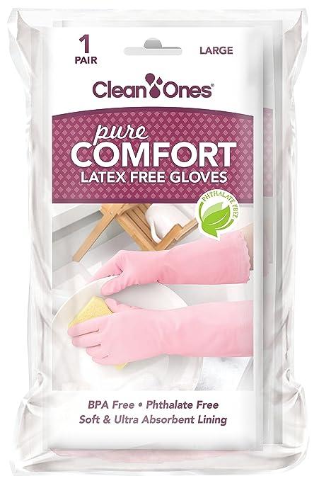 Amazon.com: Clean Ones Pure Comfort - Guantes de vinilo sin ...