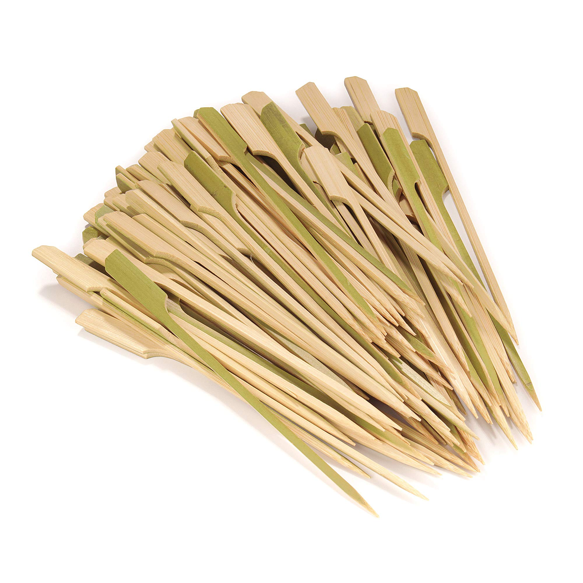 BambooMN 7.1'' Bamboo Paddle Cocktail Fruit Sandwich Food Picks Skewers for Catered Events, Holiday's, Restaurants or Buffets Party Supplies, 1000 Pieces
