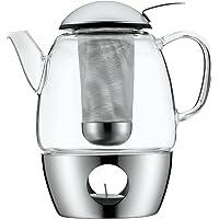 WMF SmarTea Juego de té con Calentador, Vidrio