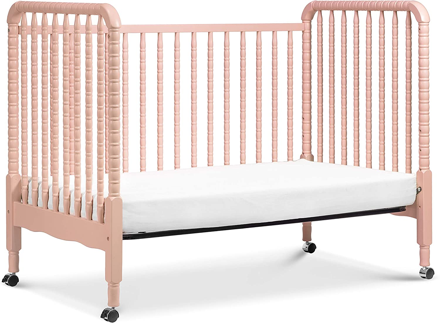- DaVinci Jenny Lind 3-in-1 Convertible Portable Crib In Blush Pink