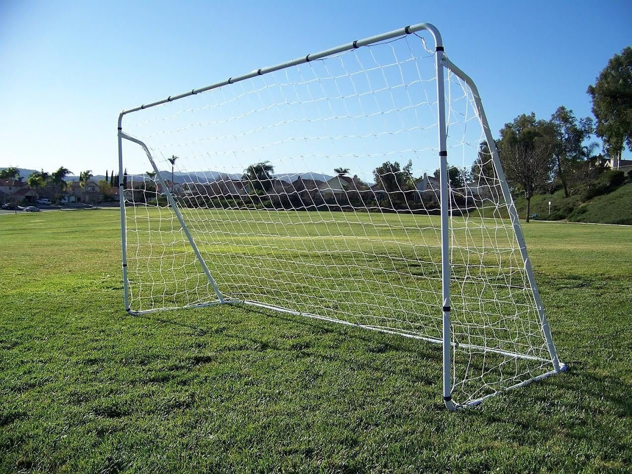 spiritone Soccer Goal 12 ' x 6 ' Football W/Netストラップ、アンカーボールトレーニングセットスポーツ B07CXMZGTP