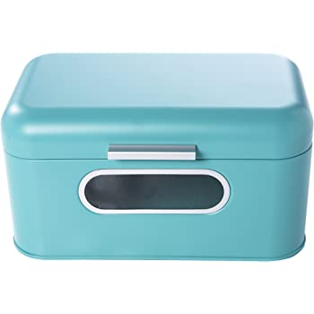 Turquoise Bread Box Simple Amazon Juvale Bread Box For Kitchen Counter Bread Bin Retro