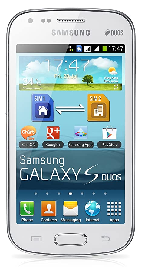 Samsung Galaxy S DUOS S7562 Unlocked GSM Phone with Dual SIM, Android 4 0  OS, 4