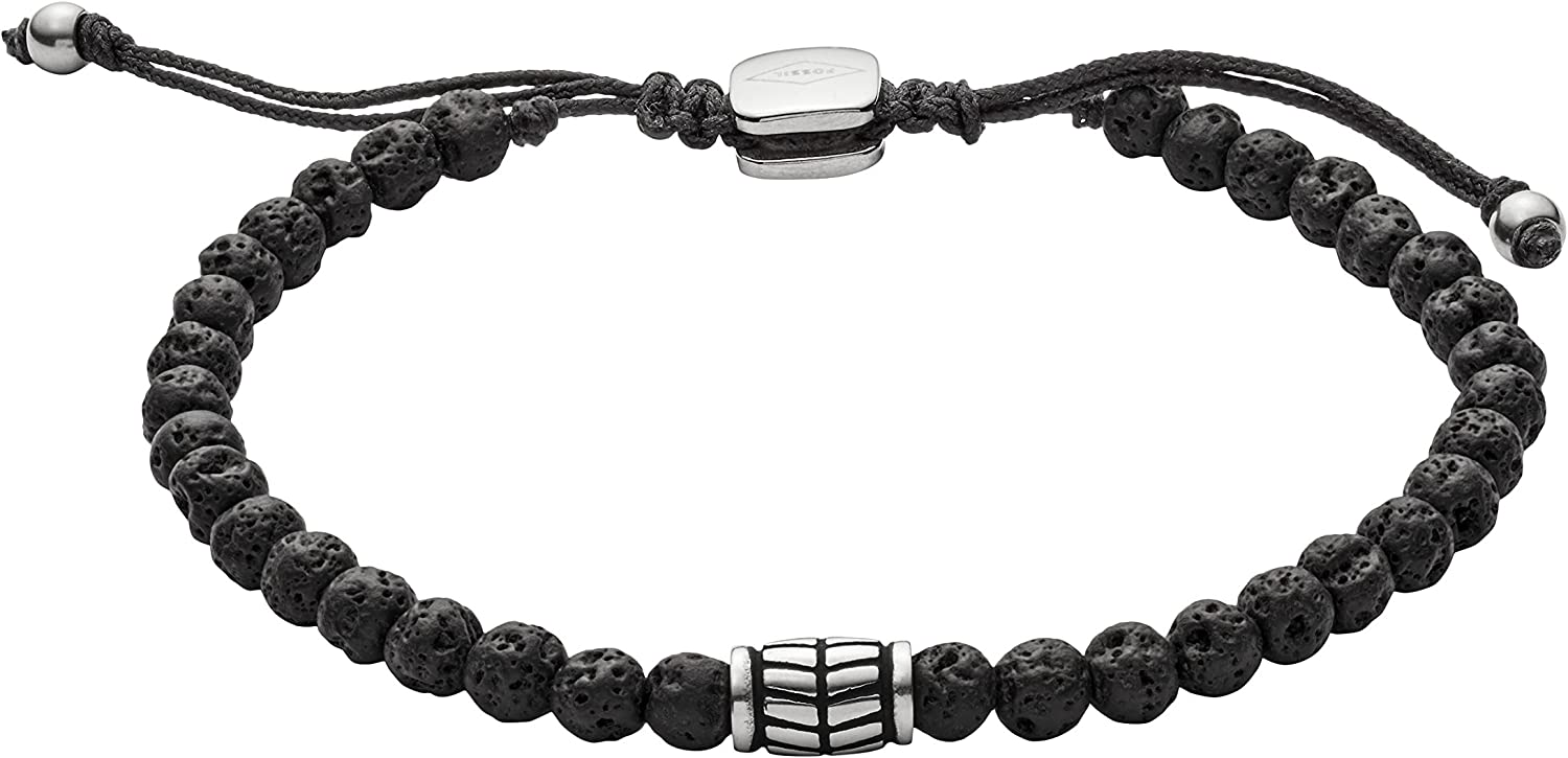 Fossil Men's Casual Beaded Bracelet