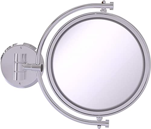 Allied Brass WM-4/5X 8 Inch Wall Mounted 5X Magnification Make-Up Mirror