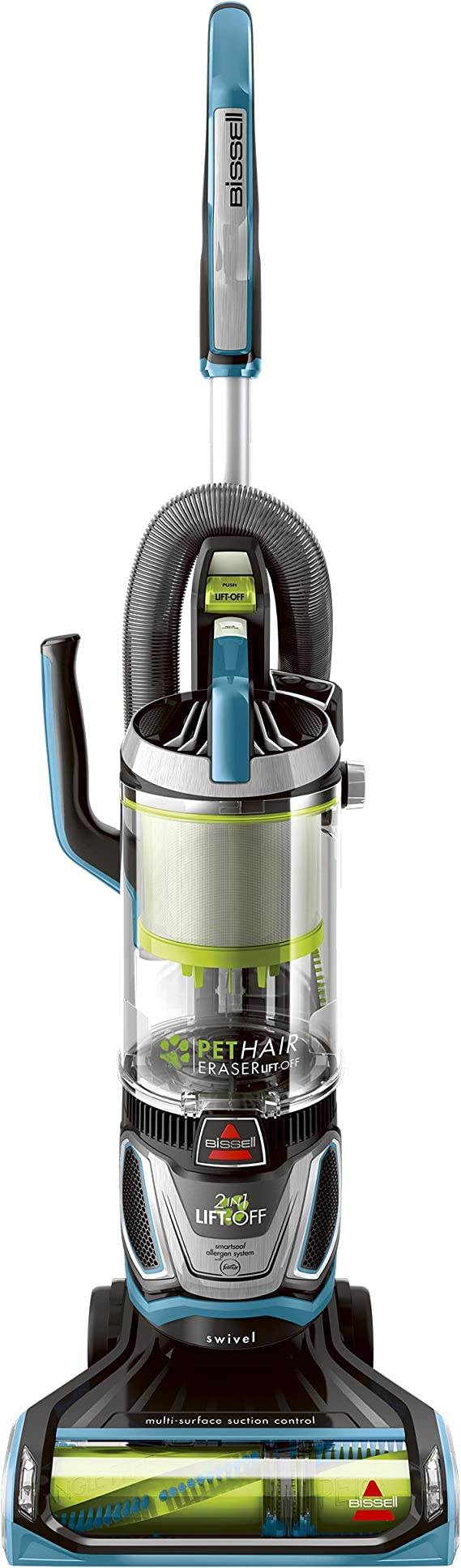 Bissell Pet Hair Eraser Lift Off Bagless Upright Vacuum, 20874, Blue