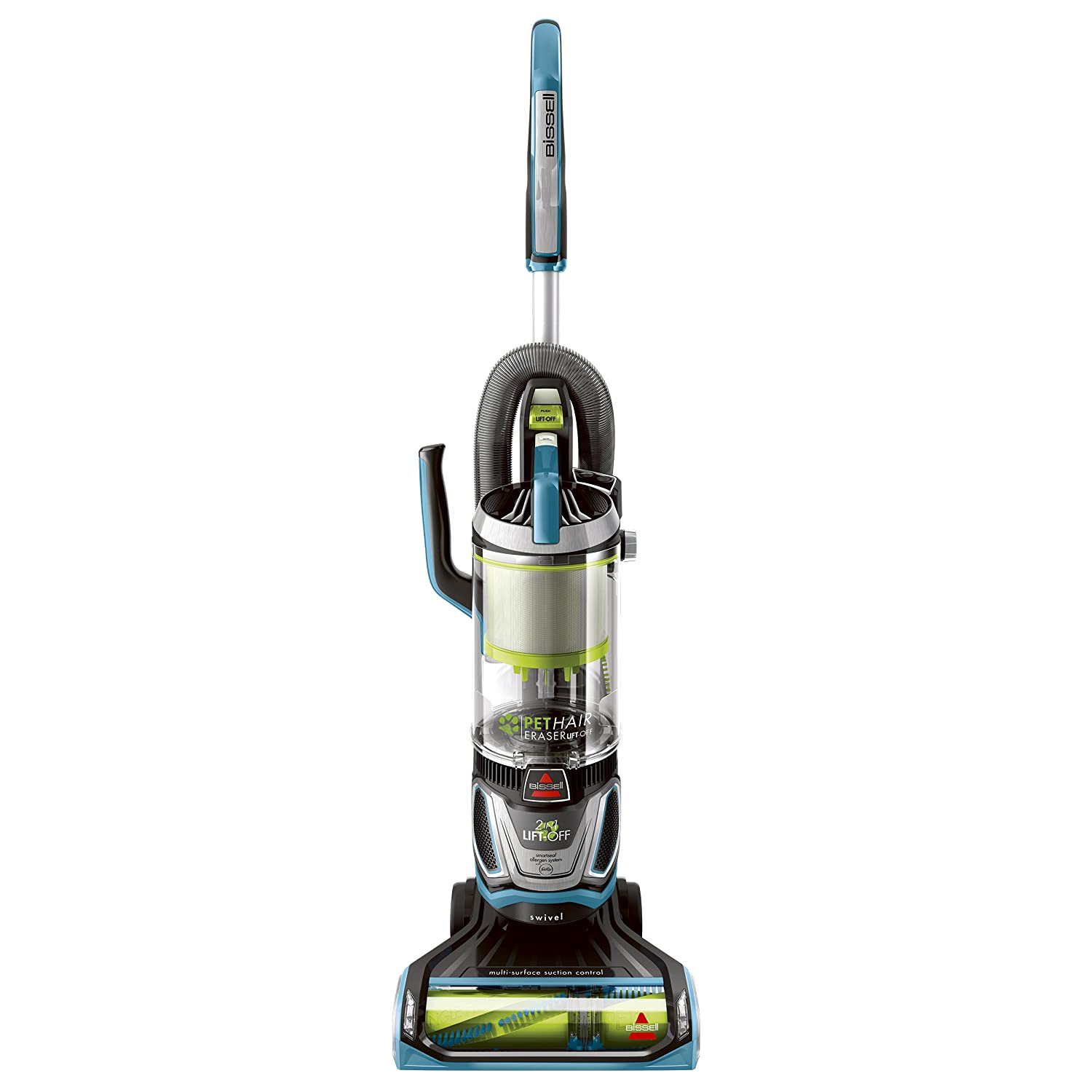 Bissell Pet Hair Eraser Lift Off Bagless Upright Vacuum Blue
