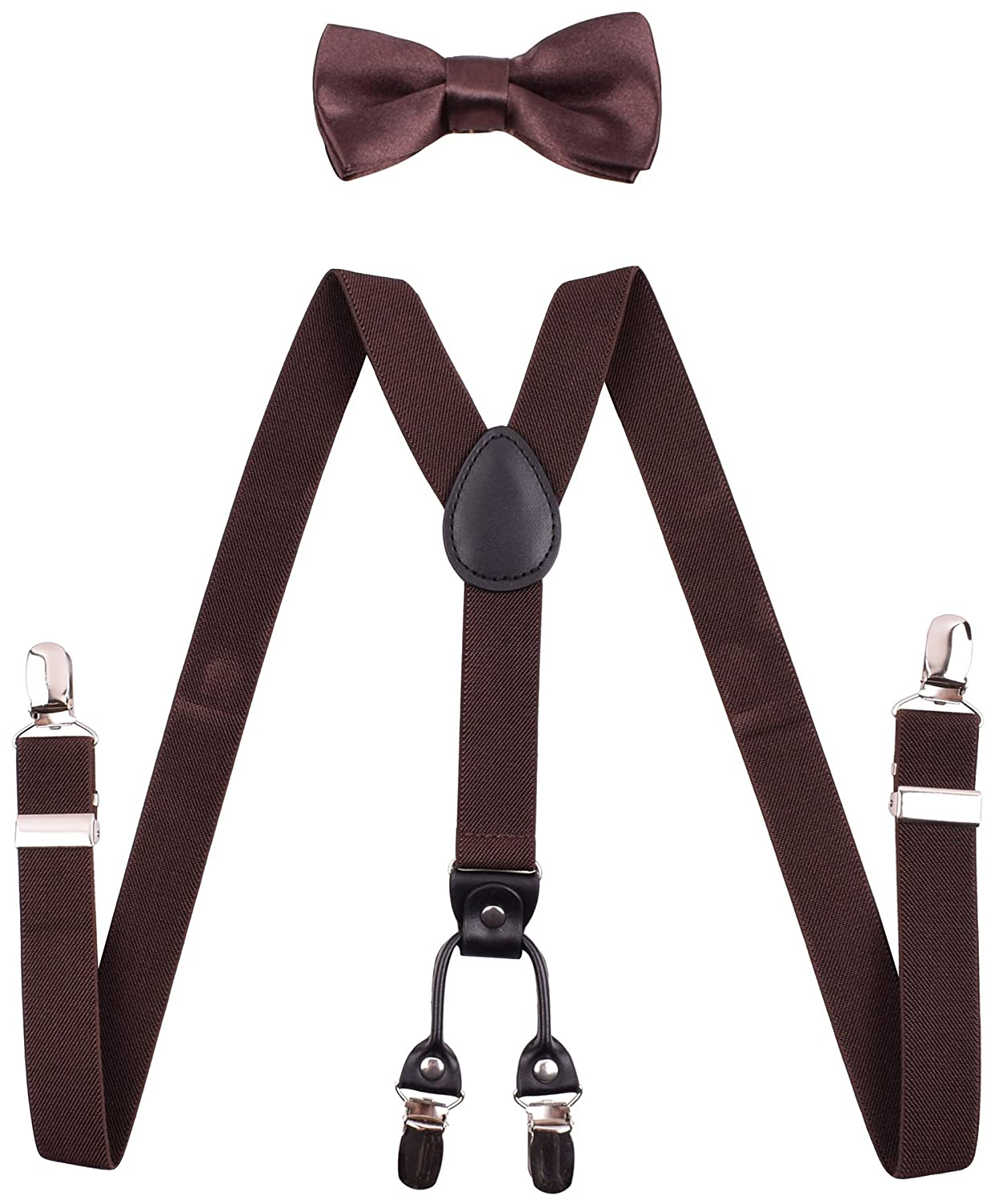 YJDS Boys' Suspenders and Bow Tie Set Adjustable Y Back Ksnb14HYHALLOWZT640523