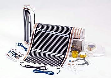 Fu/ßbodenheizung Set Elektrische Infrarot Heizfolie f/ür Laminat /& Parkett 220W//m2 8m2 speziell f/ür Sie entworfen und montiert
