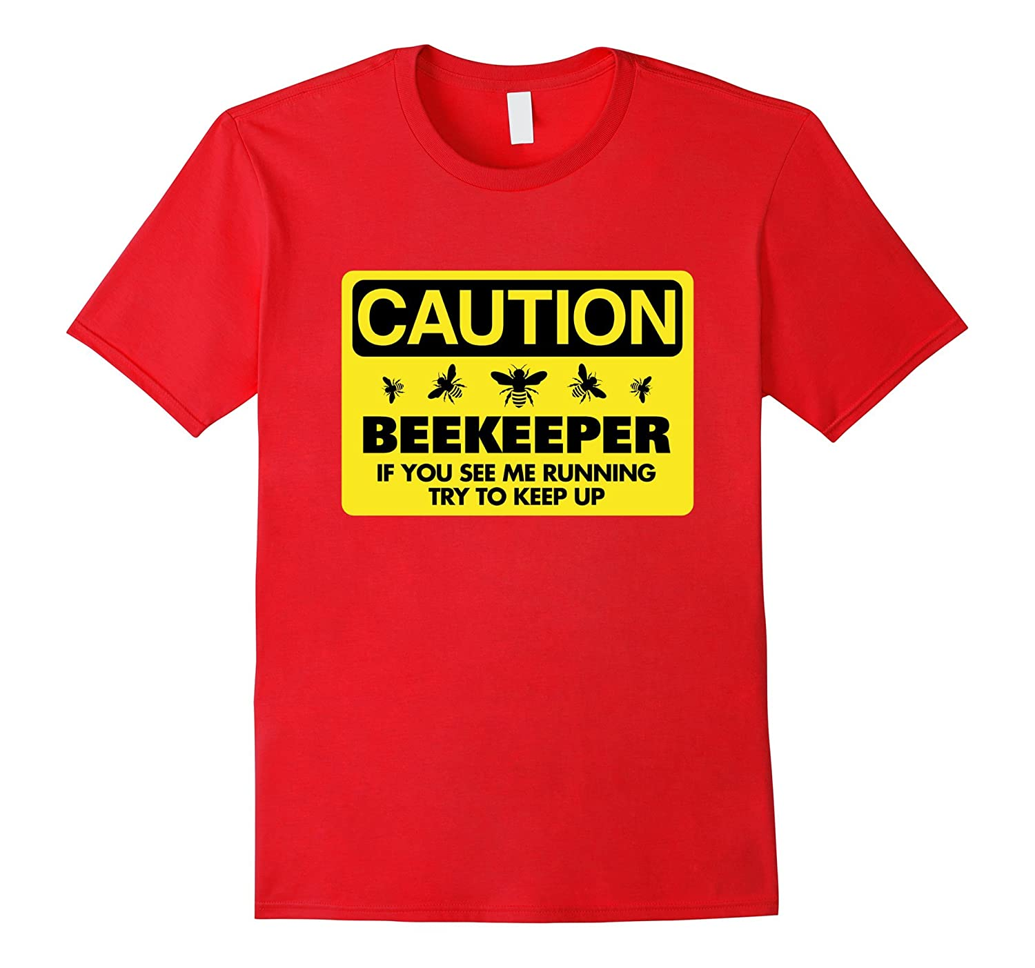 Beekeeper T-Shirt Beekeeping Shirt If You See Me Running Tee-Art