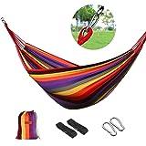 logei®Hamaca para Camping Excursión al Aire Libre Jardín Capacidad de Carga 150Kg, 200*100cm, Multicolor