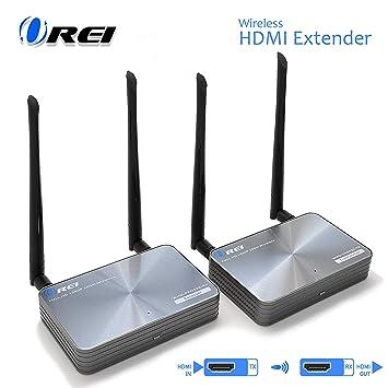 OREI - Transmisor Extensor HDMI inalámbrico y Receptor – hasta 300 ...