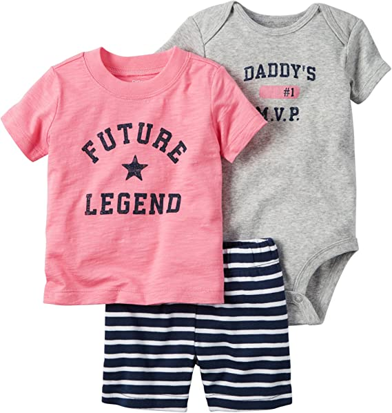 Amazon.com: De Carter bebé Niñas Legend (3 piezas): Clothing