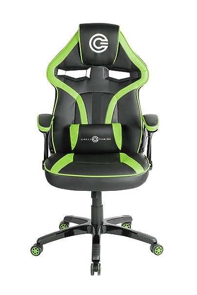 Circle Gaming/Office Chair (CH55 Black/Green)