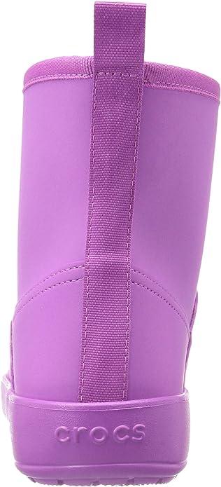 SALE* CROCS Colorlite Women Winter Fur Lined Boots Wild Orchid Sz US 7//EU 37.5