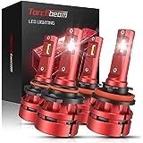 Torchbeam T2 9005 H11 LED Headlight Bulb Kit, High Beam Low Beam, 16000lm 6500K Cool White, 400% Brightness, Compact…