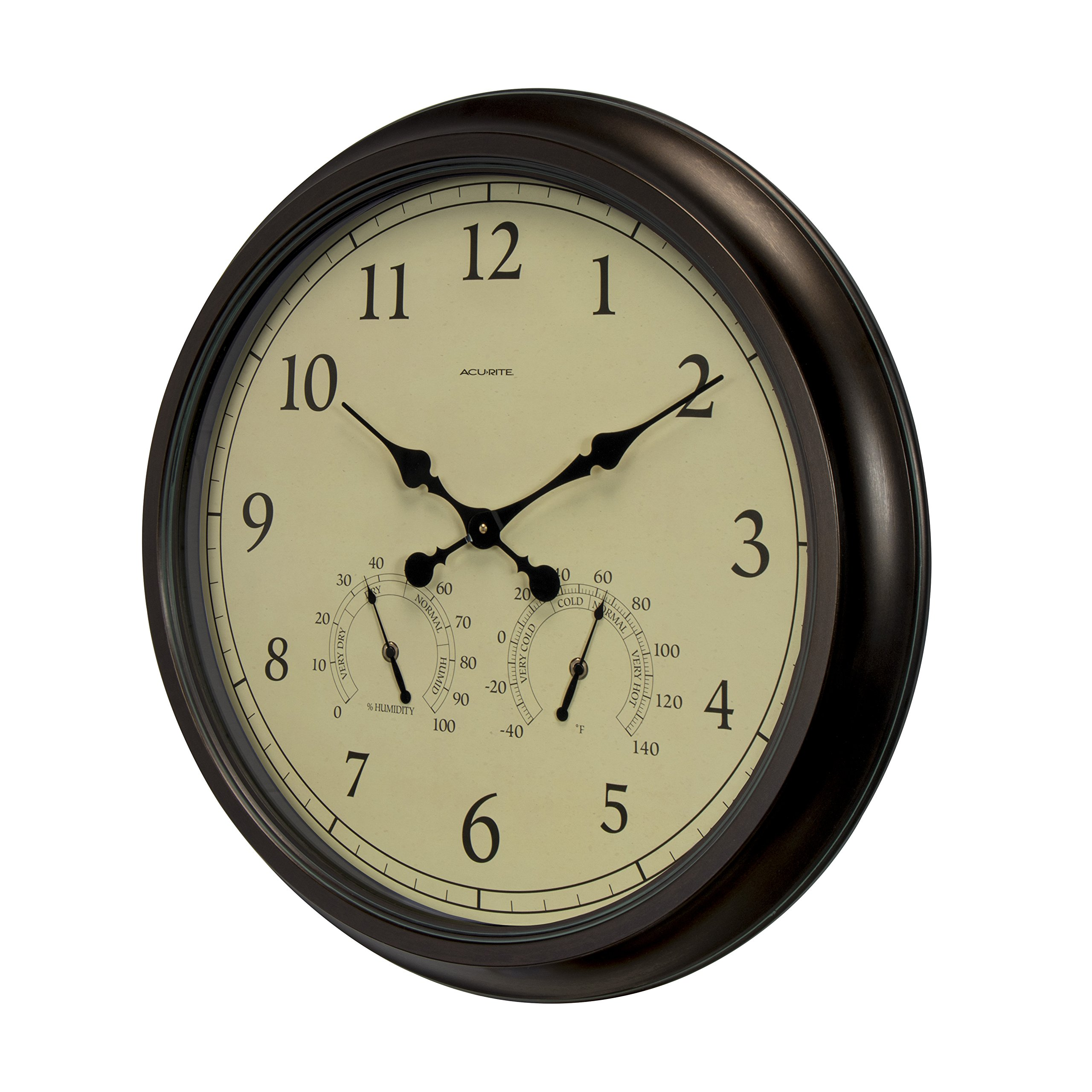 Acurite 01061 24 Inch Patina Indooroutdoor Wall Clock With