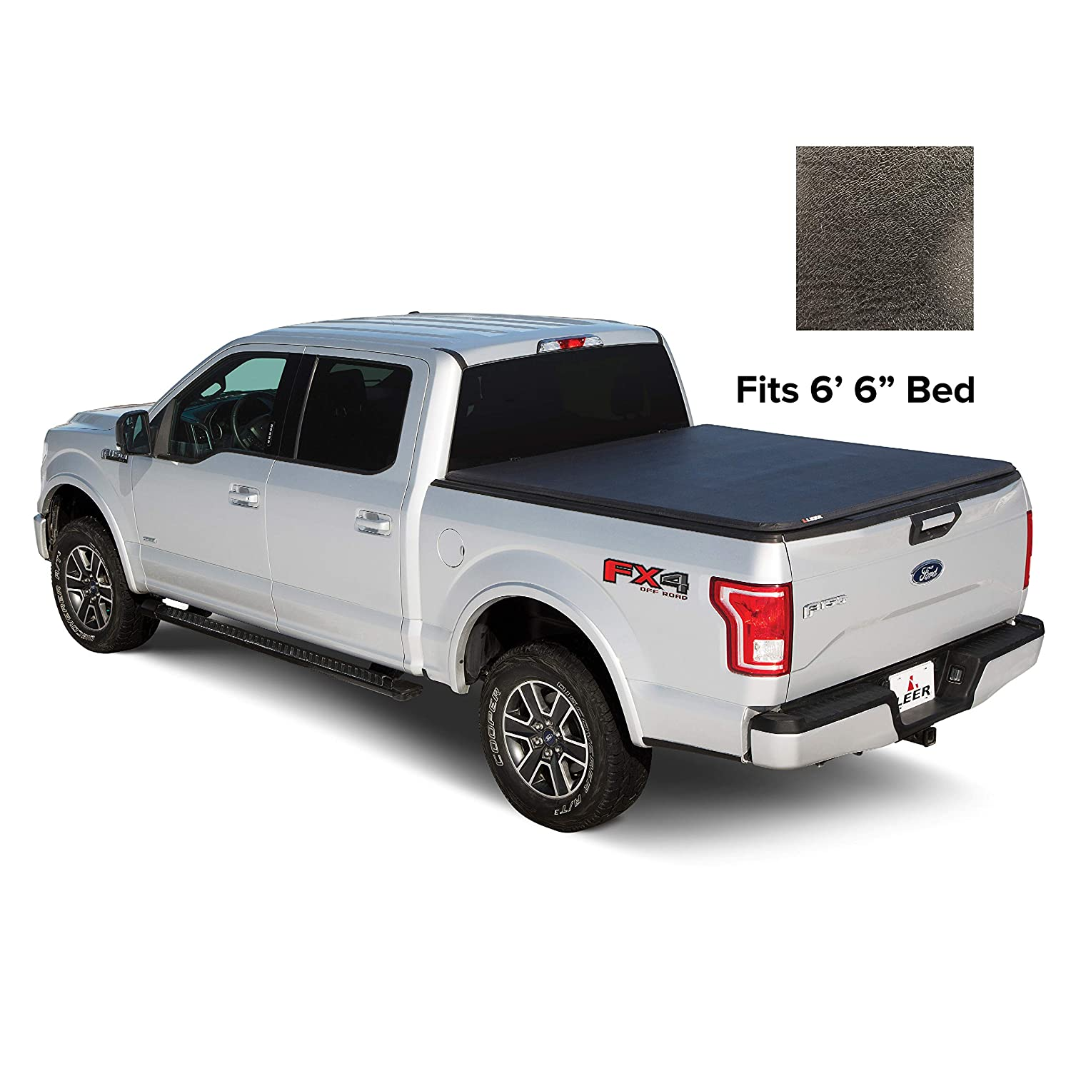 Ford F150 Bed Size >> Amazon Com Leer Latitude Soft Tri Fold Truck Bed Tonneau Cover