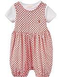 Joules Baby Jersey Spielanzug und T-Shirt Set - Cherry Diamond Geo