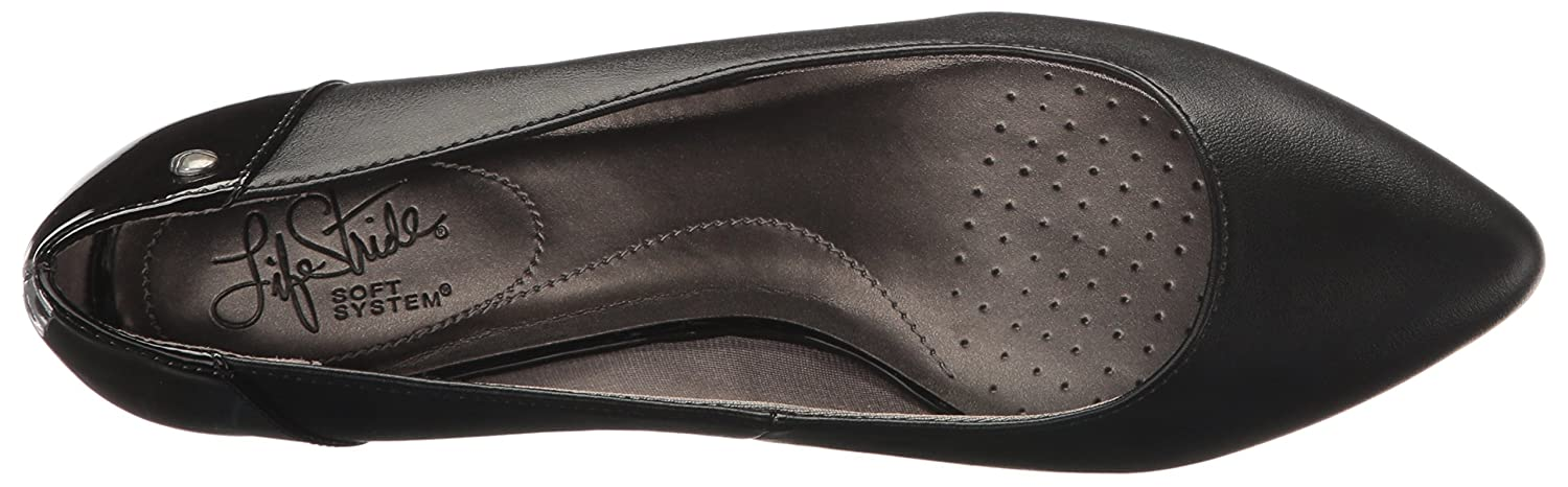 LifeStride Women's Spark Pointed Toe Flat B01MQDWN8V 6.5 B(M) US|Black Synthetic