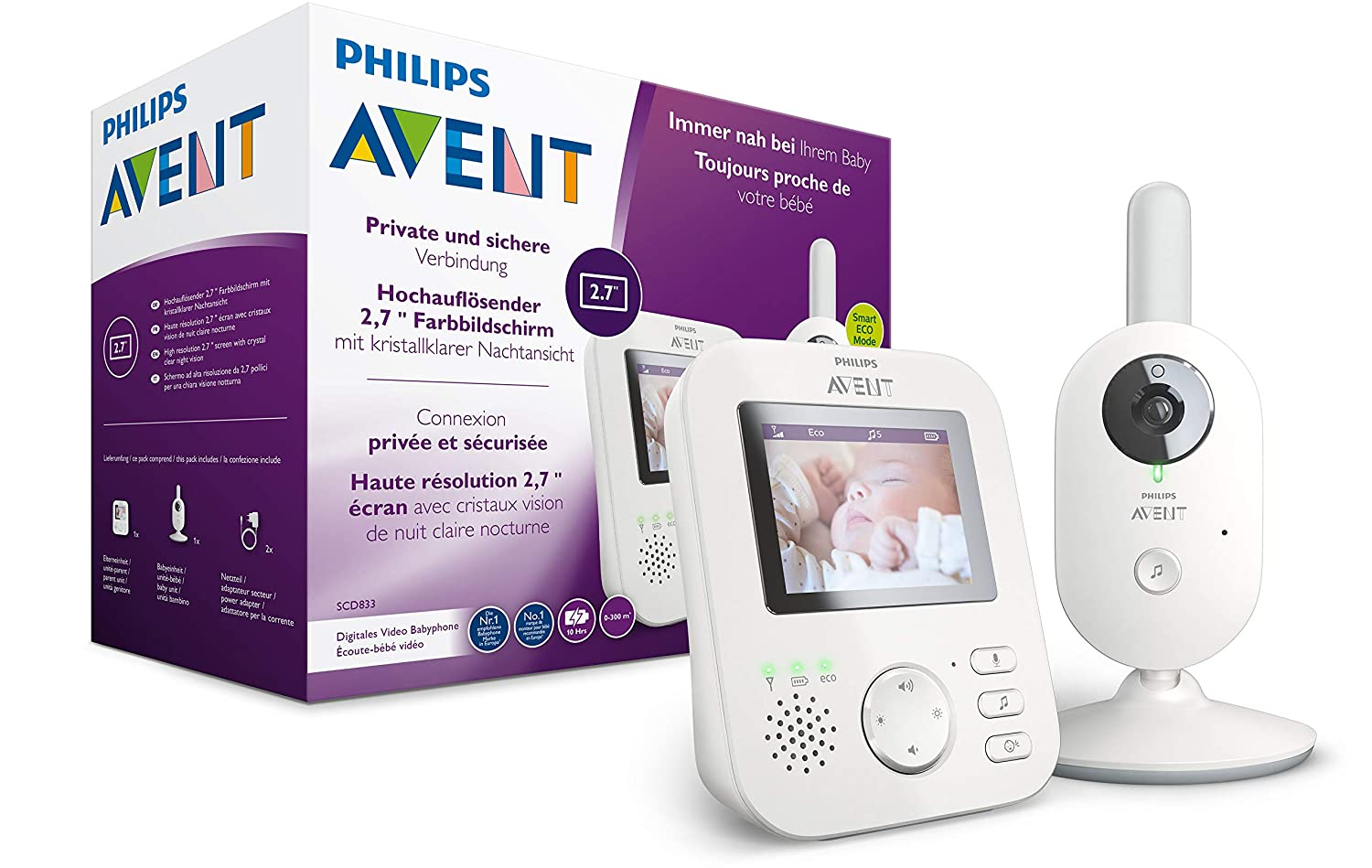 [amazon.de] Philips AVENT SCD833/26 video babyphone za 145,20€ umjesto 180€