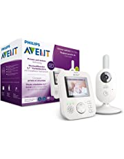 Philips AVENT SCD833/26 Video-Babyphone, 2,7 Zoll Farbdisplay, ECO-Mode, Gegensprechfunktion, weiß-grau