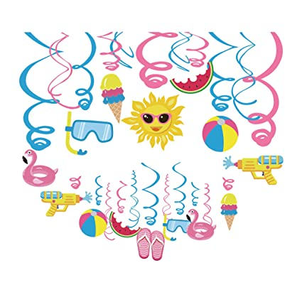 Amazon com: CC HOME Pool Party Supplies,Summer Beach Pool