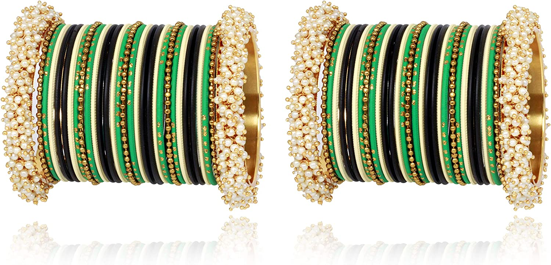 Indian American Bangles Jewelry Pakistani Punjabi Bridal Bracelet Wedding Party Wear Jewelry Gold Plated Jewelry Fashion Bangles Jewelry Set