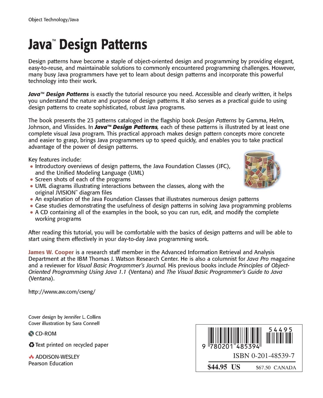 Java Design Patterns A Tutorial James W Cooper Circuit Diagram Maker 0785342485394 Books