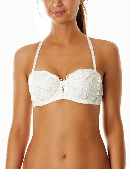 bbba08b607dfb Lepel Bouquet Bridal Bra Ivory US32B at Amazon Women s Clothing store