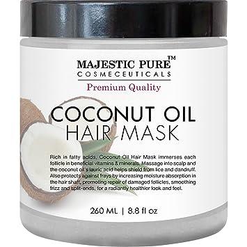 Majestic Pure - Máscara de coco Aceite de pelo de la majestuosa ofrece puro Tratamiento natural