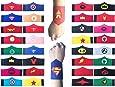 KRUCE 32 Pack Superhero Bracciale per Bambini Ragazzi e Ragazze Supereroe Compleanno Feste Bomboniere, Supereroe Bracciale in feltro, Accessori cinturino Cinturino da polso
