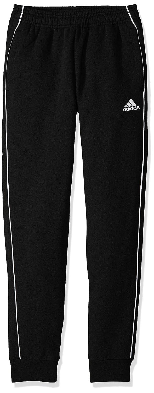 Adidasユニセックスユースサッカーcore18 Sweat Pant B0727VYS2Q Small|ブラック/ホワイト ブラック/ホワイト Small