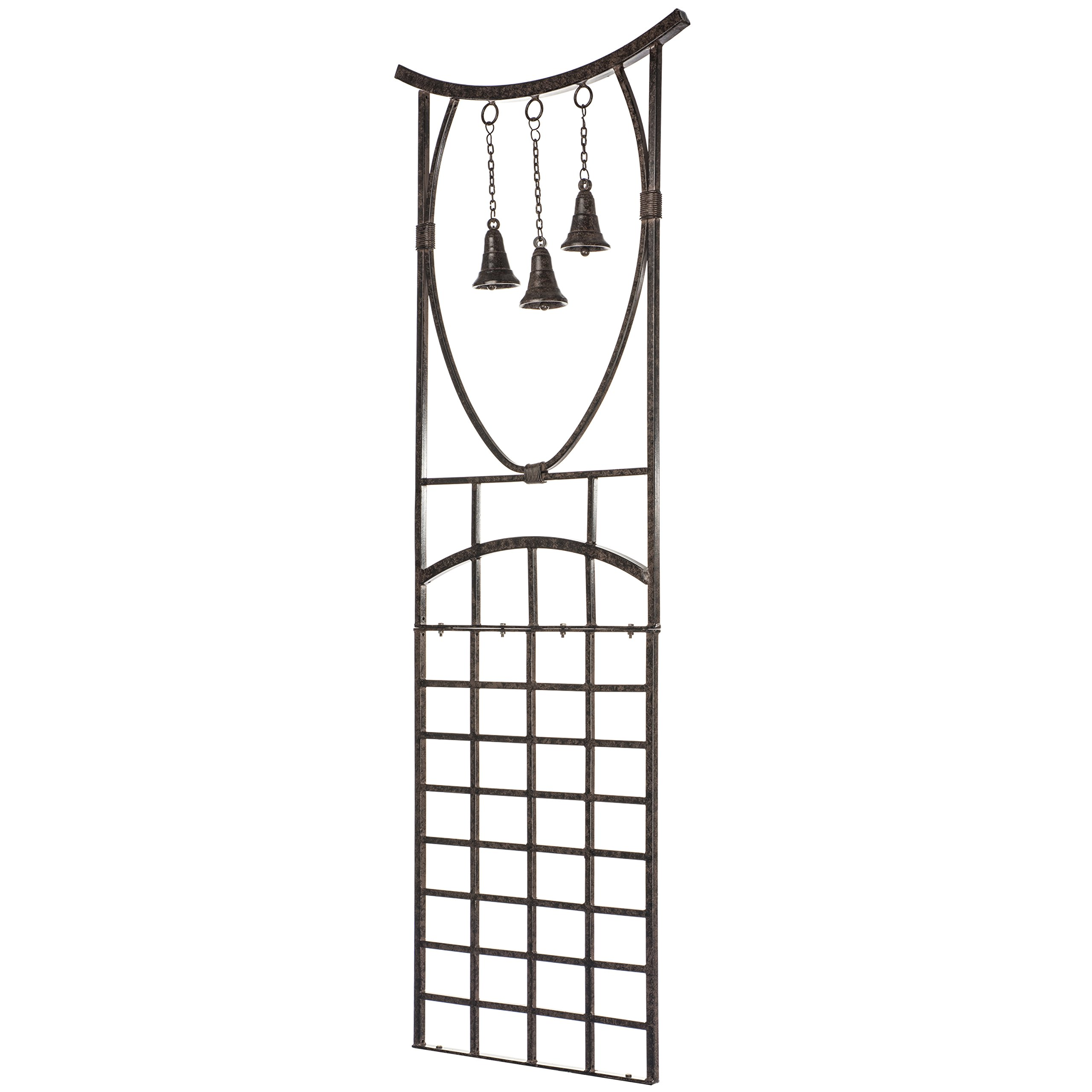 H Potter Trellis Wrought Iron Weather Resistant Garden Yard Art by H Potter