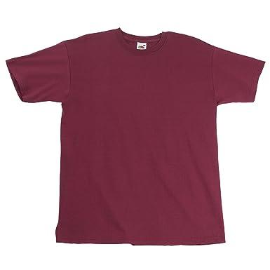 Fruit of the Loom 61-044-0-Camiseta Hombre Burdeos XXL: Amazon.es ...