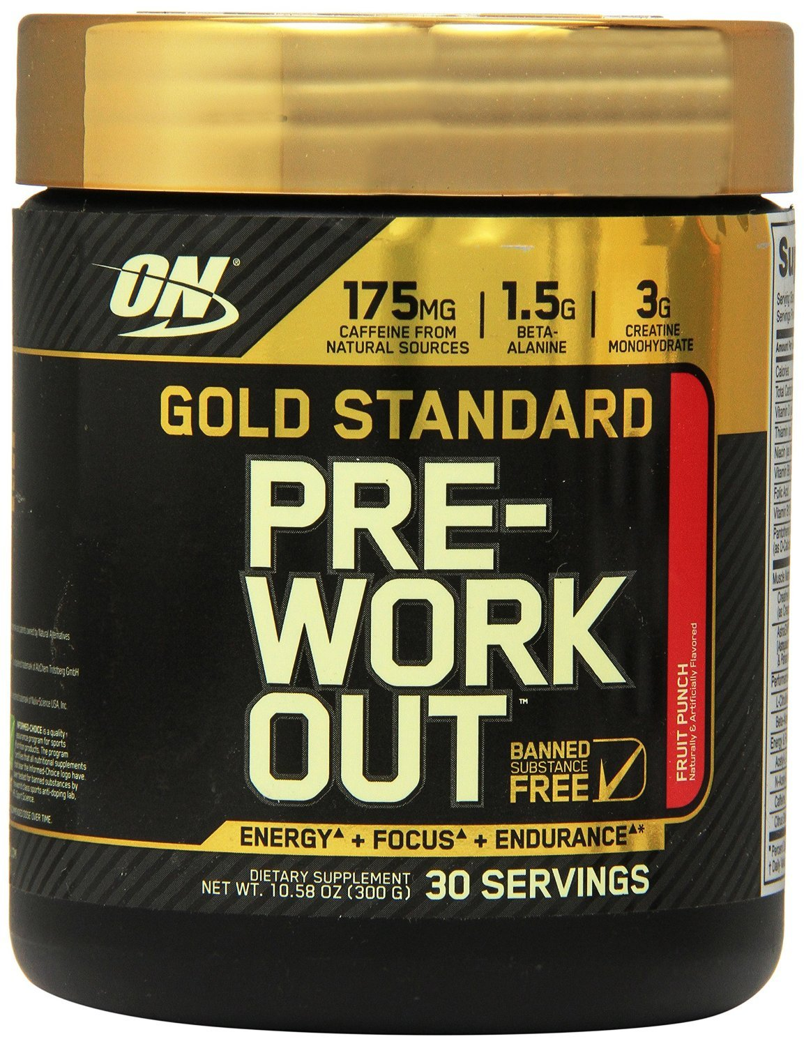 Optimum Nutrition GS Pre-workout Fruit Punch 30 Servings (Pack of 2)