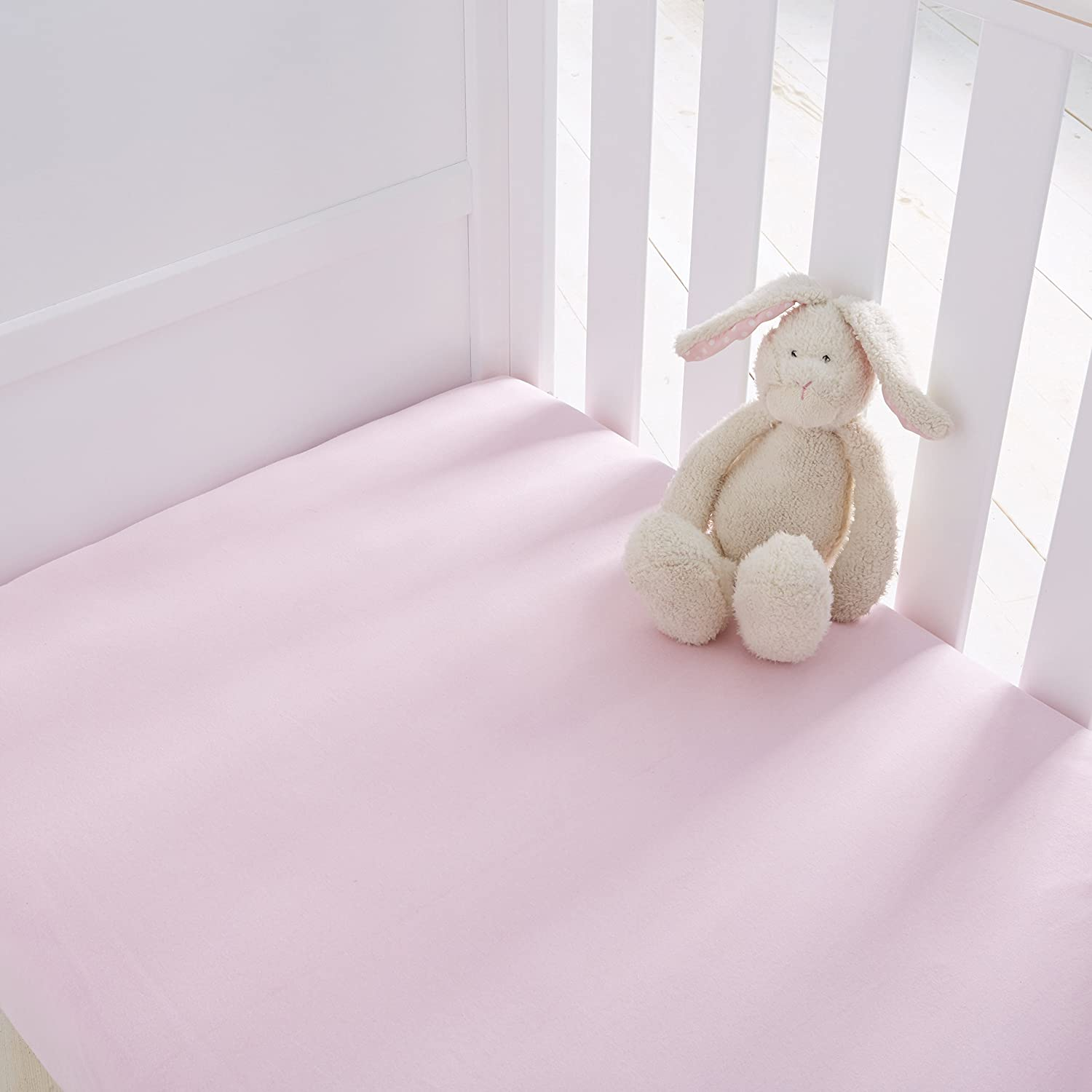 Silentnight Safe Nights Cot Fitted Sheets (Pack of 2) - White