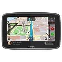 TomTom GO 6200 1PL6.002.01 Navigationsgerät (15,2 cm (6 Zoll), mit WiFi, Smartphone Benachrichtigungen, Freisprechen, Lebenslang Karten (Welt), Traffic über Integrierte SIM-Karte, Aktive Magnethalterung) schwarz